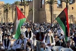 ليبيا.. الآلاف ينددون بهجمات العدو الصهيوني على القدس وغزة