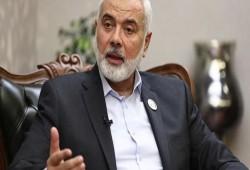 رسالة من رئيس حركة حماس إسماعيل هنية