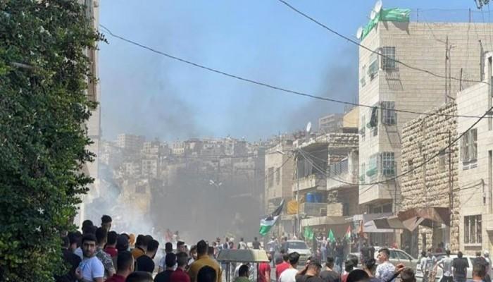 مواجهات بين الشباب الفلسطيني وقوات الاحتلال في الضفة الغربية
