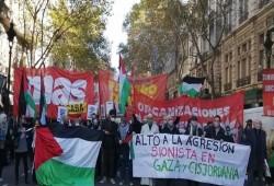 مظاهرة بالأرجنتين تندد بالعدوان الصهيوني على الشعب الفلسطينيي