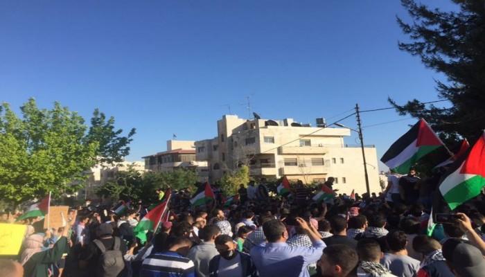مظاهرة حاشدة في الأردن تأييدا للشعب الفلسطيني ضد العدوان