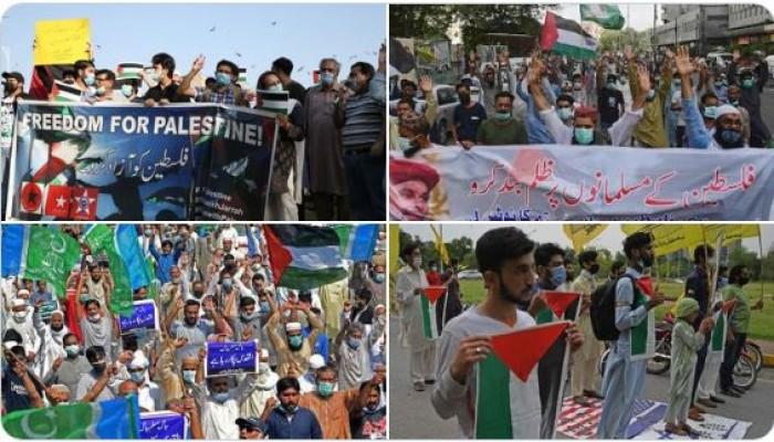 المظاهرات في باكستان تواصل التنديد بالعدوان الصهيوني على الشعب الفلسطيني