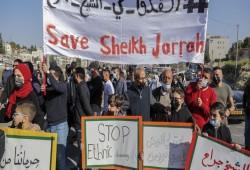 مسيرة حاشدة بالقدس المحتلة دعما لأهالي حي الشيخ جراح