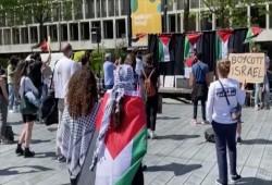هولندا.. مظاهرة طلابية داعمة للشعب الفلسطيني