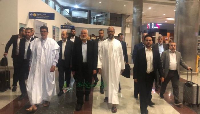 وفد حماس برئاسة هنية يختتم زيارته لموريتانيا