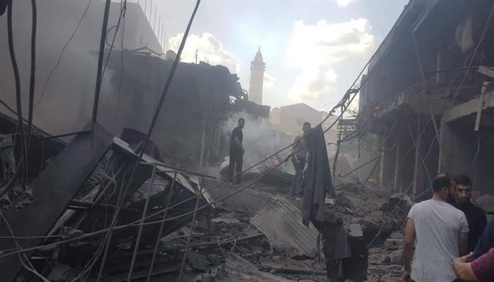 شهيد و10 إصابات في انفجار شرق غزة