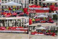 لندن.. اعتصام أمام مقر الحكومة يطالب بوقف أحكام الإعدام الظالمة بمصر