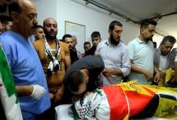 تشييع جثمان الشهيد الطفل محمد العلامي في الخليل
