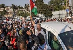 مظاهرة بالشيخ جراح رفضاً للتهجير قبيل جلسة محكمة الاحتلال الإثنين